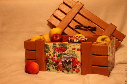 """Корзины, коробы ручной работы. Ярмарка Мастеров - ручная работа. Купить Короб-ящик для хранения"""" Бабушкино варенье"""". Handmade."""