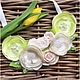 Колье, бусы ручной работы. Ярмарка Мастеров - ручная работа. Купить Текстильное колье воздушные лимонные цветы (на заказ). Handmade.