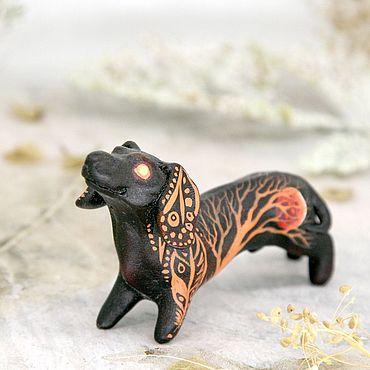 Для дома и интерьера ручной работы. Ярмарка Мастеров - ручная работа Такса Лунный Странник, фигурка собаки, статуэтка, скульптура. Handmade.