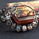 """Серьги ручной работы. Ярмарка Мастеров - ручная работа. Купить Серьги кольца """"Electra"""" с Лабрадоритами. Handmade. Авторская бижутерия, подарок"""