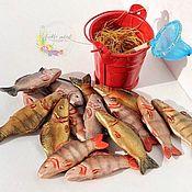 Кукольная еда ручной работы. Ярмарка Мастеров - ручная работа Рыба из полимерной глины. Кукольная еда. Миниатюра. Монтессори. Handmade.