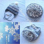 Аксессуары handmade. Livemaster - original item Hat with jacquard. Handmade.