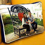 """Подарки к праздникам ручной работы. Ярмарка Мастеров - ручная работа Подушка """"Фото-коллаж"""" подарок на юбилей. Handmade."""