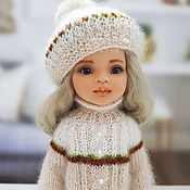 Куклы и игрушки handmade. Livemaster - original item Clothes for Paola Reina dolls. Cream set.Beret and sweater.. Handmade.