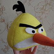 Куклы и игрушки ручной работы. Ярмарка Мастеров - ручная работа Птичка Angry Birds желтая. Handmade.