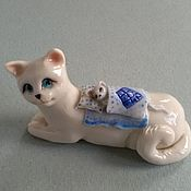Для дома и интерьера ручной работы. Ярмарка Мастеров - ручная работа Кот и мышка. Handmade.