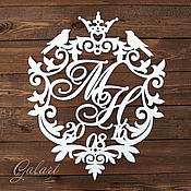 Свадебный салон ручной работы. Ярмарка Мастеров - ручная работа Свадебный вензель. Handmade.