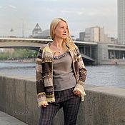 Одежда handmade. Livemaster - original item Oatmeal jacquard jacket