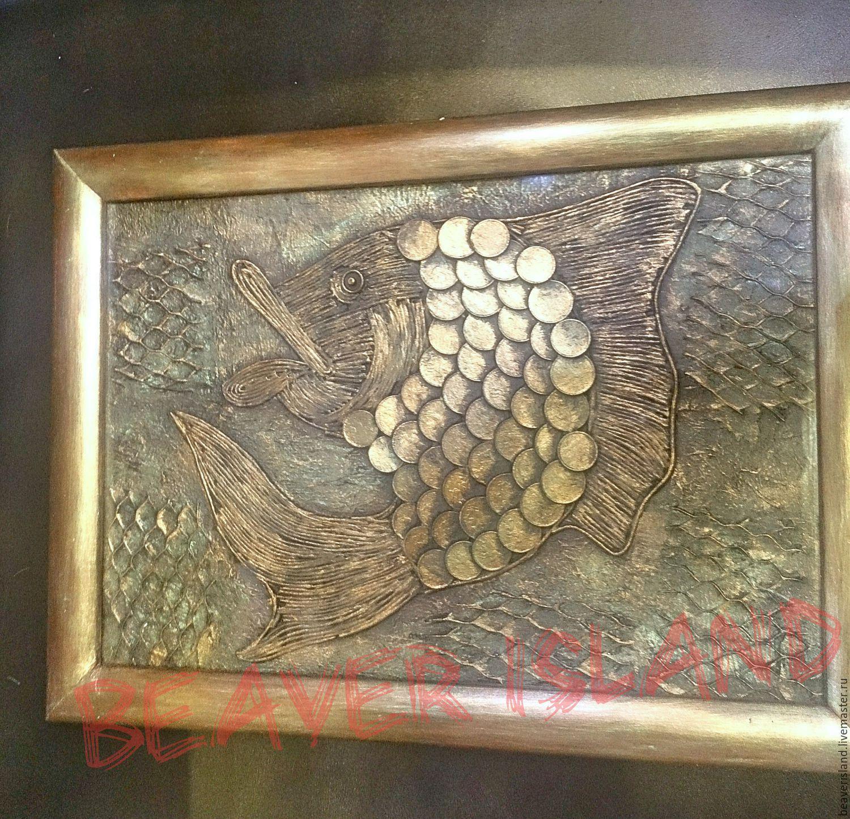 a946defd75a Подсвечники ручной работы. Ярмарка Мастеров - ручная работа. Купить Панно Золотая  Рыбка в Ваших ...