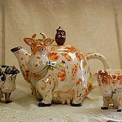 Посуда handmade. Livemaster - original item A kettle and cups