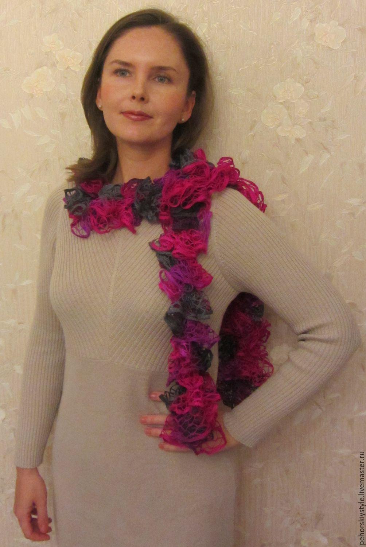 вязаные шарфы в ассортименте купить в интернет магазине на ярмарке