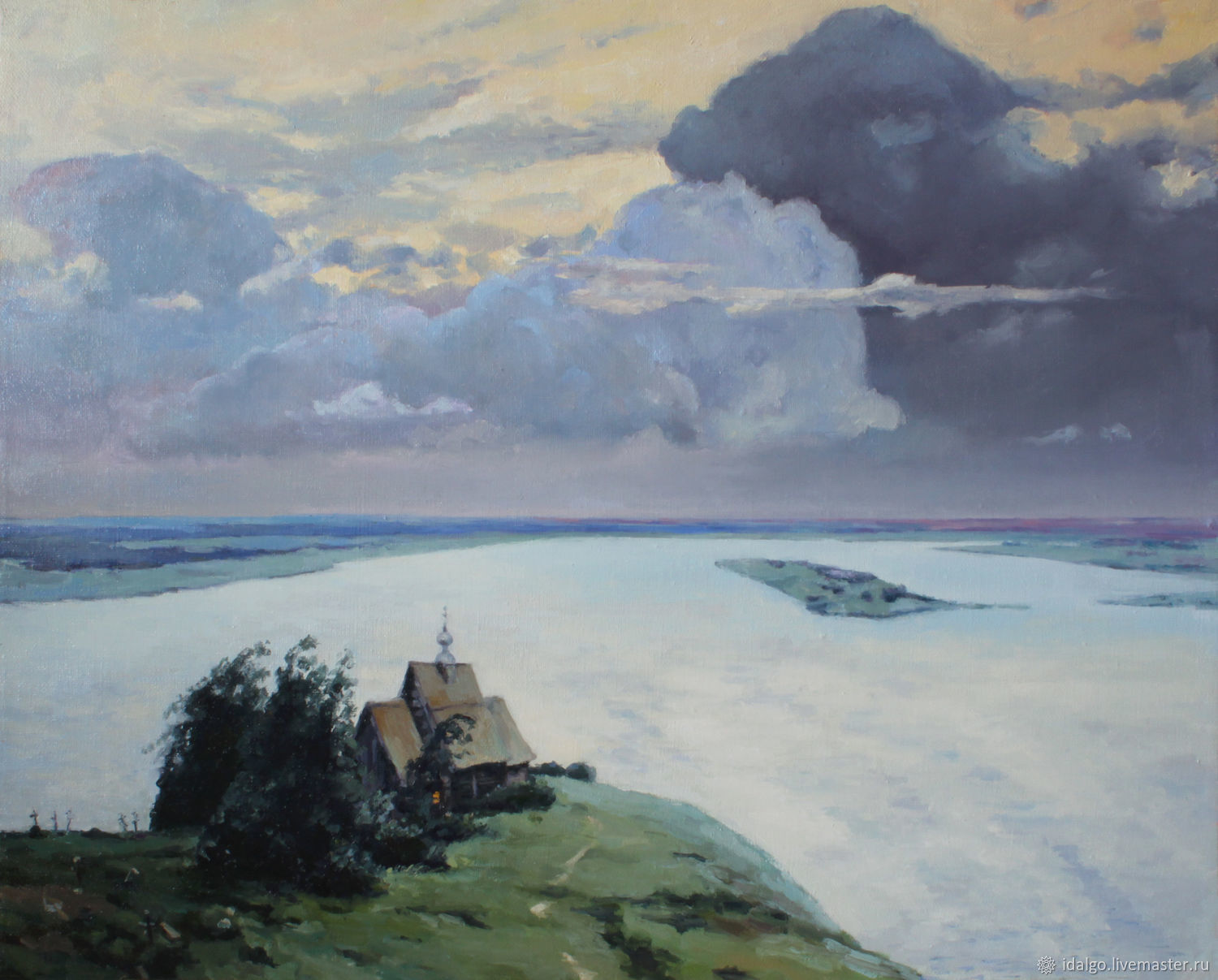 Example, oil Painting 'Over eternal rest',copy And. Levitan, Pictures, Nizhny Novgorod,  Фото №1