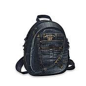 Сумки и аксессуары handmade. Livemaster - original item Copy of Denim backpack Denim_. Handmade.