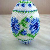 Подарки к праздникам ручной работы. Ярмарка Мастеров - ручная работа яйцо оплетенное бисером. Handmade.