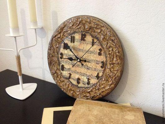 """Часы для дома ручной работы. Ярмарка Мастеров - ручная работа. Купить Часы """"Очень старая мелодия"""". Handmade. Часы настенные"""