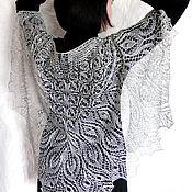 Аксессуары ручной работы. Ярмарка Мастеров - ручная работа Ажурная шаль вязаная Первоцвет Шаль спицами. Handmade.
