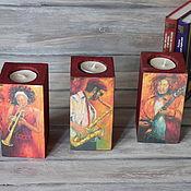 Для дома и интерьера handmade. Livemaster - original item jazz candlesticks. Handmade.