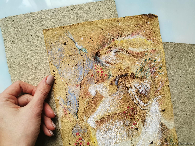 Лесные сказки, картина на бумаге ручной работы, Картины, Москва,  Фото №1