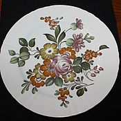 Винтаж handmade. Livemaster - original item Large, table plates with flowers, Hutschenreuther, Herm. Handmade.