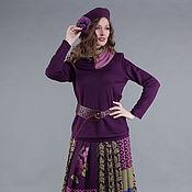 Одежда ручной работы. Ярмарка Мастеров - ручная работа Вязаный костюм - юбка, джемпер и снуд. Handmade.