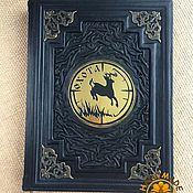 Сувениры и подарки handmade. Livemaster - original item Leather-bound GAME HUNTING. Handmade.