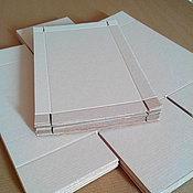 Материалы для творчества ручной работы. Ярмарка Мастеров - ручная работа Заготовка коробочек 12х21х11 цвет крафт. Handmade.