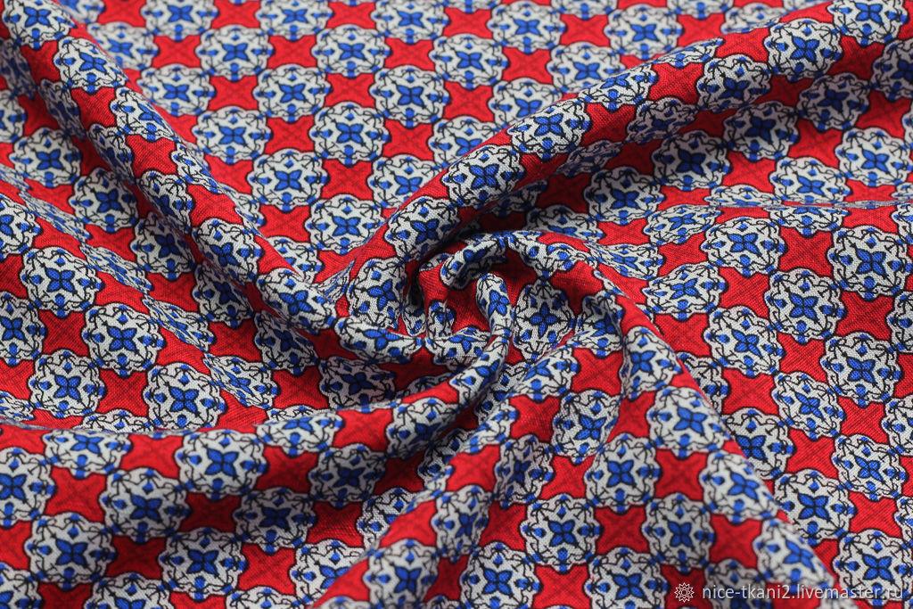 Шитье ручной работы. Ярмарка Мастеров - ручная работа. Купить 156301 ткань яркий штапель красный калейдоскоп. Handmade. Вискоза