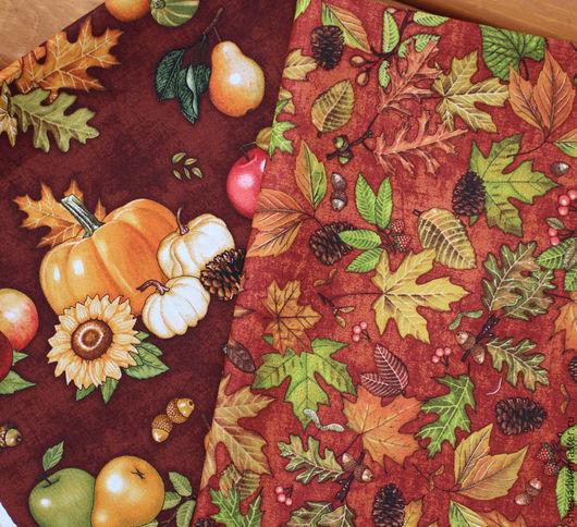 Шитье ручной работы. Ярмарка Мастеров - ручная работа. Купить Ткань для пэчворка  Shades of Autumn. Handmade. Бежевый, рыжий