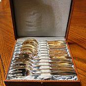 Винтаж handmade. Livemaster - original item Vintage set of tea spoons and forks, silvered, Wilkens 90, Germany. Handmade.