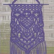 """Панно макраме ручной работы. Ярмарка Мастеров - ручная работа Панно-макраме """"Лаванда"""". Handmade."""