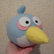 Куклы и игрушки ручной работы. Ярмарка Мастеров - ручная работа Птичка Angry Birds голубая. Handmade.