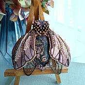 Украшения handmade. Livemaster - original item Moth brooch dusty pink, 9,3 x 8,8 cm. Handmade.