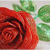Цветы и флористика ручной работы. Ярмарка Мастеров - ручная работа Роза (красная). Handmade.