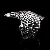 Украшения handmade. Livemaster - original item Steel Ring of Raven. Handmade.