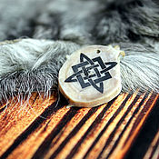 handmade. Livemaster - original item Deer horn pendant