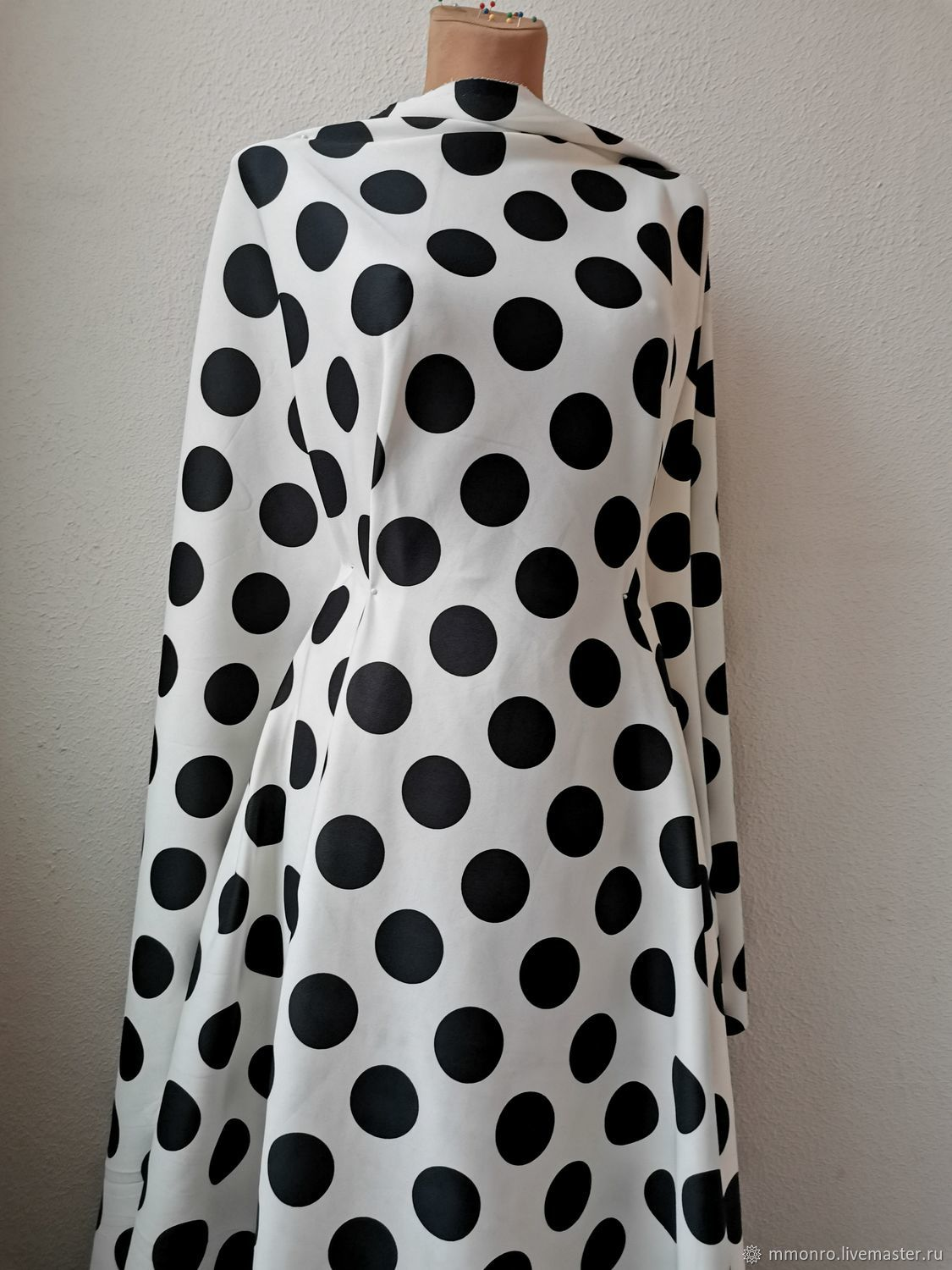 Diving, thick fabric. In stock! polka dot, Fabric, Podolsk,  Фото №1