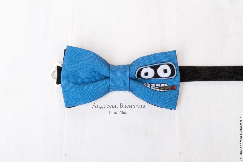 Ties & Bow Ties handmade. Livemaster - handmade. Buy Bow tie Futurama, Bender, Futurama.Blue, tie