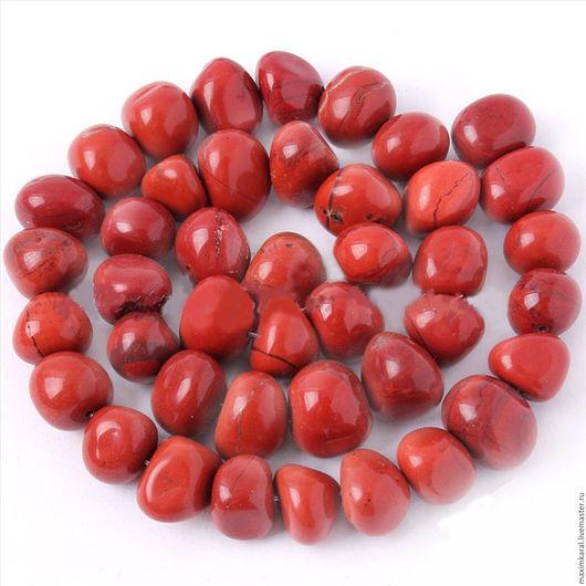 Для украшений ручной работы. Ярмарка Мастеров - ручная работа. Купить Бусины из красной яшмы свободной формы. Handmade. Бусина