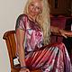Платья ручной работы. Ярмарка Мастеров - ручная работа. Купить платье- Розовый Вальс. Handmade. Батик, нарядное платье