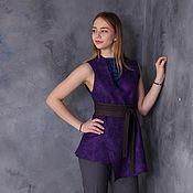 Одежда handmade. Livemaster - original item Vest top felt the Approach of spring. Handmade.