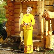 Одежда ручной работы. Ярмарка Мастеров - ручная работа Жакет с вышивкой, дизайнер Ангелина Груздева. Handmade.