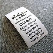 Материалы для творчества ручной работы. Ярмарка Мастеров - ручная работа Бирки, составники, уходники полиэстер/ Polyester labels with your text. Handmade.