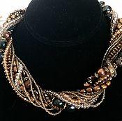 Украшения handmade. Livemaster - original item Necklaces and earrings of pearls, Swarovski crystals and beads. Handmade.