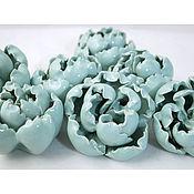 Для дома и интерьера handmade. Livemaster - original item Turquoise peonies - furniture handles. Handmade.