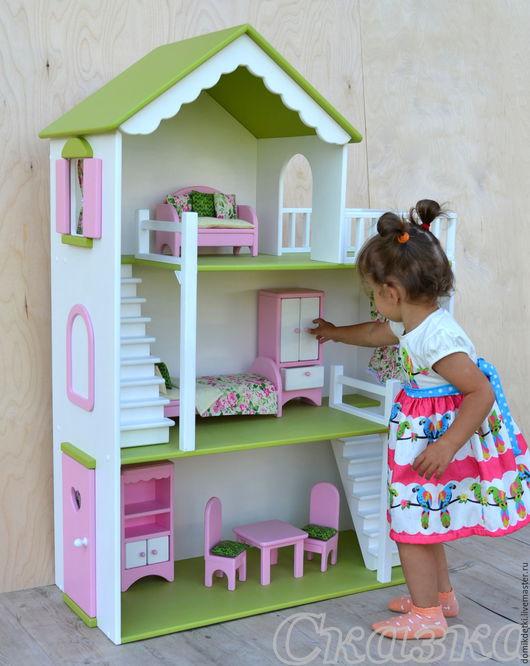 Кукольный дом ручной работы. Ярмарка Мастеров - ручная работа. Купить Кукольный домик. Handmade. Кукольный дом, домики