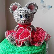 Мягкие игрушки ручной работы. Ярмарка Мастеров - ручная работа Сувенирные мышки, разные цвета платьев. Handmade.