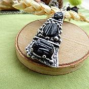 Украшения handmade. Livemaster - original item Pendant with black tourmaline. Handmade.