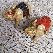 Винтажные предметы интерьера ручной работы. Ярмарка Мастеров - ручная работа Слоны фарфоровые. Handmade.