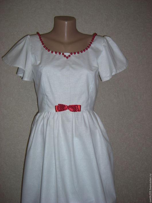"""Платья ручной работы. Ярмарка Мастеров - ручная работа. Купить Платье """"Белоснежка"""". Handmade. Платье, глубокий вырез, отделка платья"""