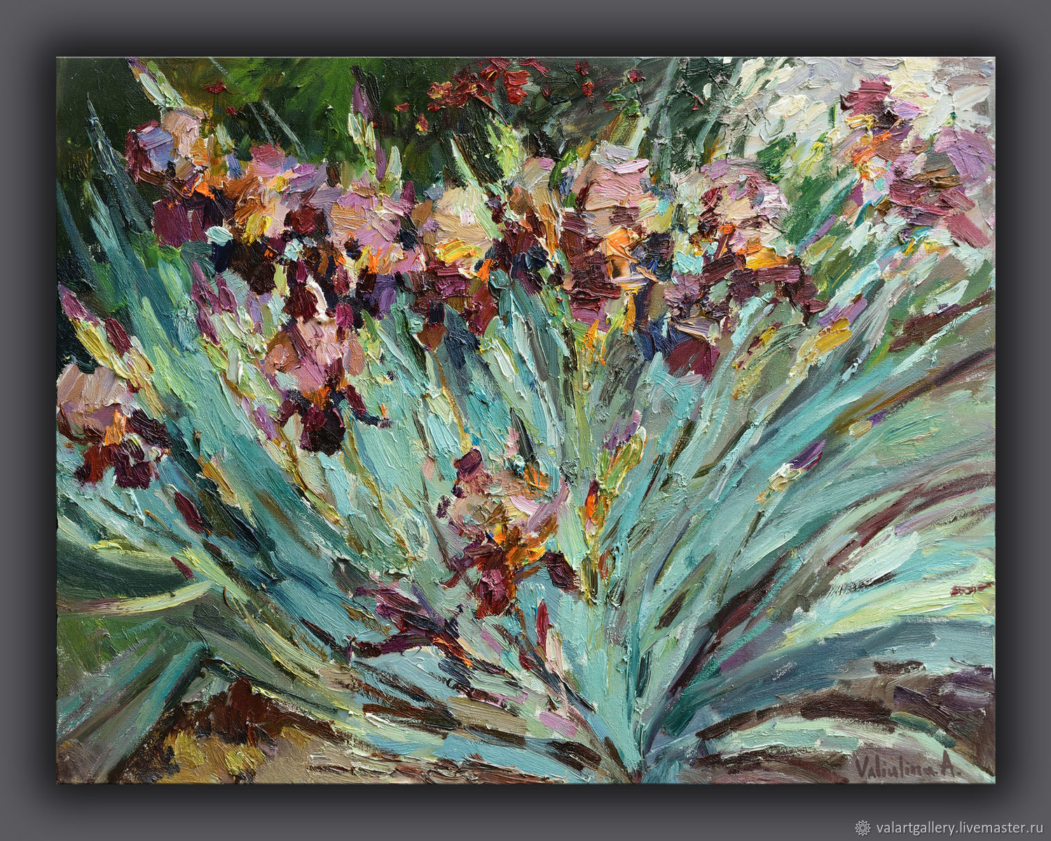 Irises floral painting - 90 x 70 cm, Pictures, Anapa,  Фото №1